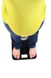 Pregnant belly closeup Stock Photos
