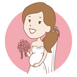 Pregnant Bride Icon Royalty Free Stock Images