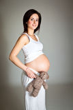 Pregnant brunette Royalty Free Stock Photo