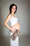 Pregnant brunette Royalty Free Stock Photo