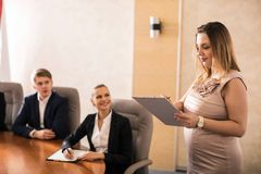Pregnant business consultant Royalty Free Stock Photo