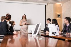 Pregnant business consultant Stock Images