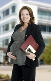 Pregnant business woman Stock Photography