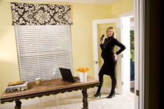 Pregnant businesswoman Royalty Free Stock Image