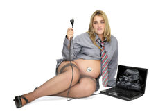 Pregnant businesswoman Stock Images