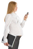 Pregnant businesswoman Stock Photos