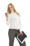 Pregnant businesswoman Stock Photos
