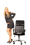 Pregnant businesswoman with back pain Stock Images