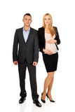 Pregnant businesswoman with her partner Royalty Free Stock Photography