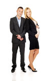 Pregnant businesswoman with her partner Royalty Free Stock Photos