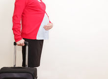 Pregnant businesswoman travel Stock Photos