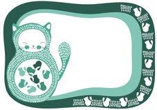 Pregnant Cat Invitation Card Stock Photos