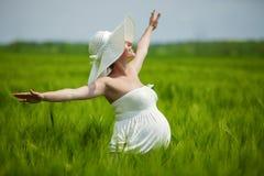 Pregnant Caucasian Woman Stock Photos