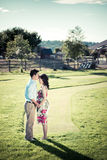 Pregnant couple Royalty Free Stock Photos