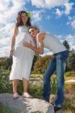 Pregnant couple Royalty Free Stock Photos