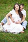 Pregnant couple Stock Image
