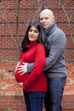 Pregnant couple Royalty Free Stock Image