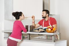 Pregnant couple Stock Images