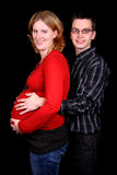 Pregnant couple stock photography