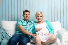 Pregnant couple Stock Image