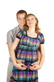 Pregnant couple in love Stock Image