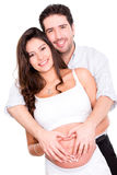 Pregnant couple in love Stock Image
