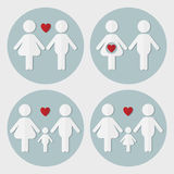 Pregnant couple in love, family with baby boy,  family with baby Royalty Free Stock Images