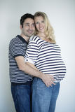 Pregnant couple in love Stock Photography