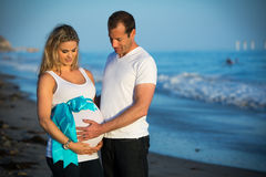 Pregnant couple Stock Photo