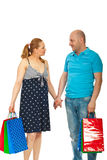 Pregnant couple at shopping Royalty Free Stock Image