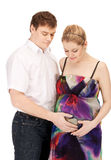 Pregnant couple waiting for baby Royalty Free Stock Photography