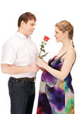 Pregnant couple waiting for baby Stock Image