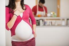 Pregnant couple Stock Photos