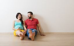 Pregnant couple stock photos