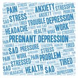 Pregnant Depression word cloud. Wordcloud made with text only royalty free stock photography