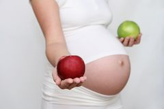 Pregnant and diet 3 Stock Images