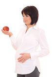 Pregnant and diet Royalty Free Stock Image