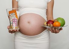 Pregnant and diet Stock Photo