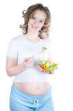 Pregnant eats Royalty Free Stock Photo