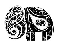Pregnant elephant shape ornament Stock Images