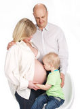 Pregnant family Royalty Free Stock Photography
