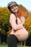 Pregnant female & autumn Royalty Free Stock Photo