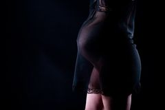 Pregnant female belly Royalty Free Stock Image