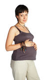 Pregnant female with clipping path Stock Photos