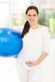 Pregnant fitness ball Stock Images