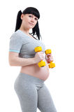 Pregnant fitness woman Royalty Free Stock Photos