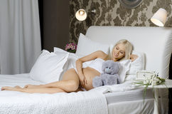 Pregnant girl Stock Photo