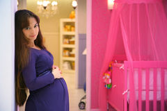 Pregnant girl Royalty Free Stock Images