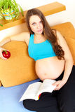 Pregnant girl Stock Photo