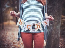 The pregnant girl Royalty Free Stock Photo